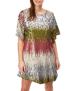 robe tunique en sequins cristina femme
