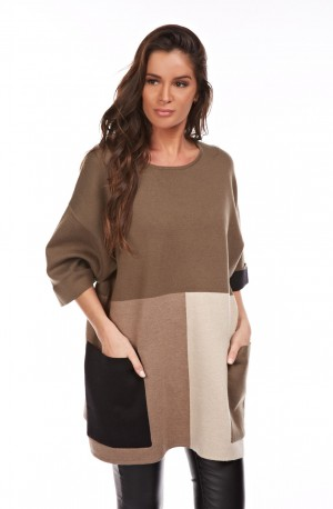 CRISTINA Robe Pull Manches Longues Femme Ref. CR-C774