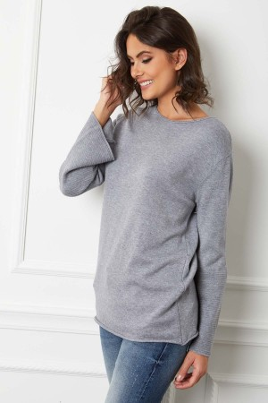 Pull manches trompettes base cachemire